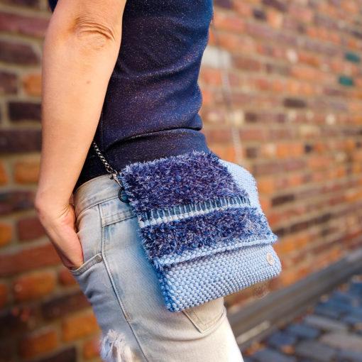 Upcycling Tasche Textilgarn